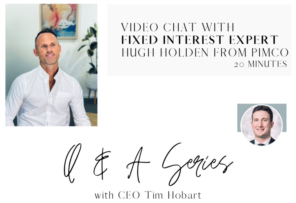 Video chat - with fixed interest expert Hugh Holden from PIMCO
